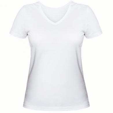 Купити Жіноча футболка з V-подібним вирізом Atilla han