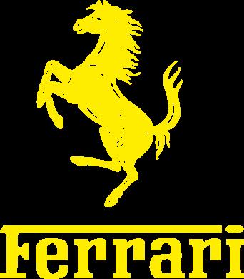 Купити Жіноча футболка з V-подібним вирізом логотип Ferrari