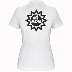 Жіноча футболка поло # 1 MOM