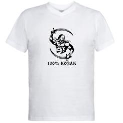 Купити Чоловічі футболки з V-подібним вирізом 100% козак