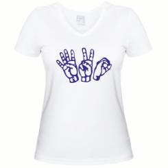 Жіноча футболка з V-подібним вирізом 4:20 (чотири двадцять)