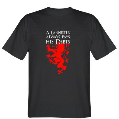 Футболка A Lannister always pays his debts