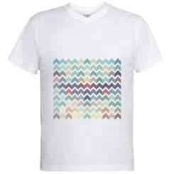 Чоловіча футболка з V-подібним вирізом Abstraction Art
