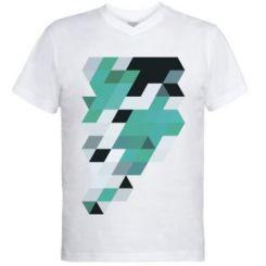 Чоловіча футболка з V-подібним вирізом Abstraction
