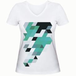 Жіноча футболка з V-подібним вирізом Abstraction