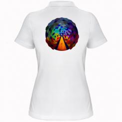Жіноча футболка поло Абстракция