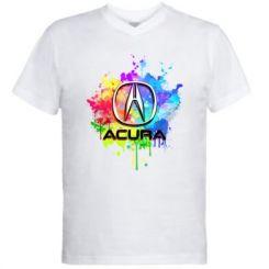 Чоловіча футболка з V-подібним вирізом Acura Art
