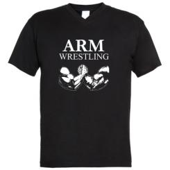 Чоловічі футболки з V-подібним вирізом Arm Wrestling