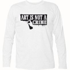 Футболка з довгим рукавом Art is not crime