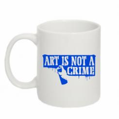 Кружка 320ml Art is not crime
