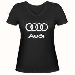 Купити Жіноча футболка з V-подібним вирізом Audi
