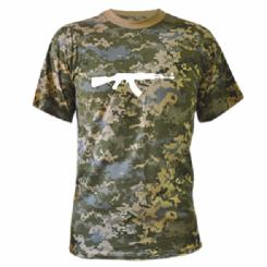 Камуфляжна футболка Автомат Тимати
