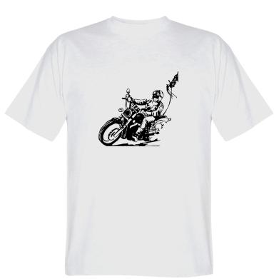 Футболка Байкер на мотоциклі