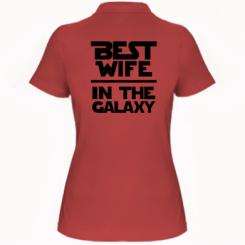 Купити Жіноча футболка поло Best wife in the Galaxy