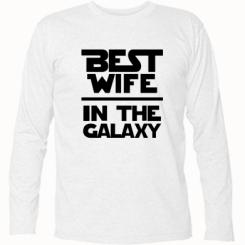 Купити Футболка з довгим рукавом Best wife in the Galaxy