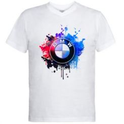 Чоловіча футболка з V-подібним вирізом BMW logo art 2