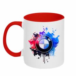 Кружка двокольорова BMW logo art 2