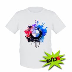 Дитяча футболка BMW logo art 2