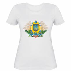Жіноча футболка Бог береже Україну