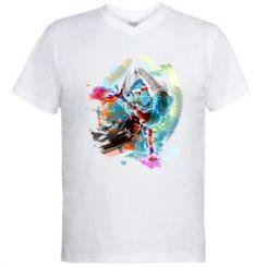 Чоловіча футболка з V-подібним вирізом Брейк Арт