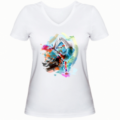 Жіноча футболка з V-подібним вирізом Брейк Арт