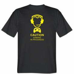 Футболка Caution! Gaming in progress