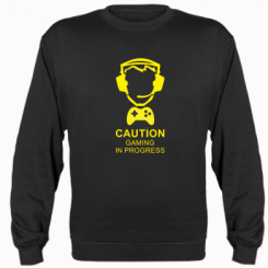 Реглан Caution! Gaming in progress