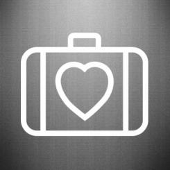 Наклейка Валізу з серцем