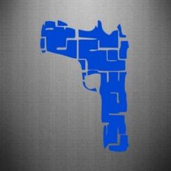 Наклейка Чорний пістолет
