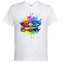 Чоловіча футболка з V-подібним вирізом Chery Art