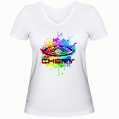 Жіноча футболка з V-подібним вирізом Chery Art