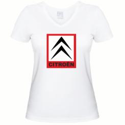Купити Жіноча футболка з V-подібним вирізом Citroen