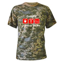 Купити Камуфляжна футболка Crossfit Fitness For The Win