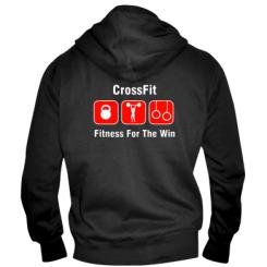 Купити Чоловіча толстовка на блискавці Crossfit Fitness For The Win