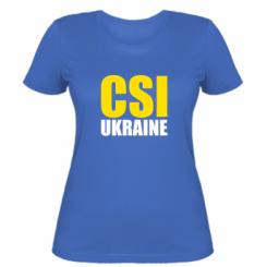 Жіноча футболка CSI Ukraine