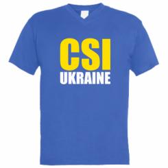 Чоловіча футболка з V-подібним вирізом CSI Ukraine