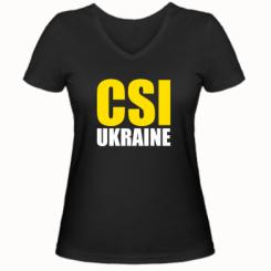 Жіноча футболка з V-подібним вирізом CSI Ukraine