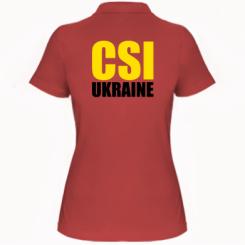 Жіноча футболка поло CSI Ukraine