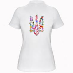 Жіноча футболка поло Квітучий герб