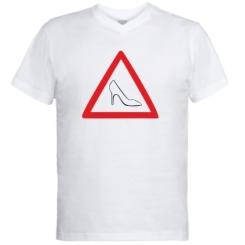 Купити Чоловічі футболки з V-подібним вирізом Дама за кермом