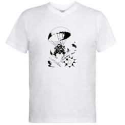 Купити Чоловічі футболки з V-подібним вирізом Десантник