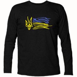693f3bd30155 Футболка с длинным рукавом Детский рисунок флаг Украины - купить в ...