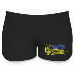 Женские шорты Детский рисунок флаг Украины