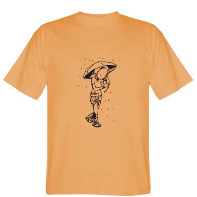 Футболка Дівчина під дощем
