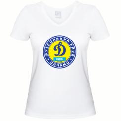 Купити Жіноча футболка з V-подібним вирізом Динамо Київ