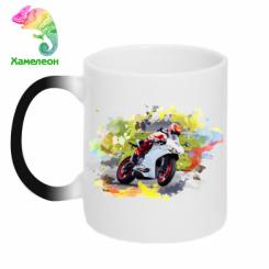 Кружка-хамелеон Ducati Art