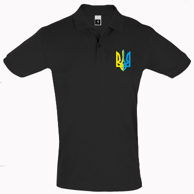 Купити Футболка Поло Двокольоровий герб України