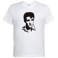 Купити Чоловічі футболки з V-подібним вирізом Елвіс Преслі 3b2a87e3b32cf