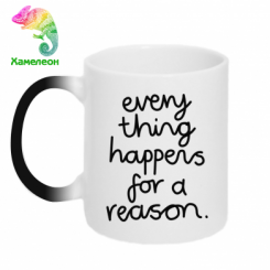 Кружка-хамелеон Everything happens for a reason