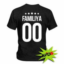 Детская футболка Фамилия и номер